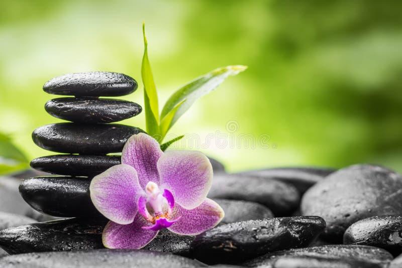 De stenen en het bamboe van Zen royalty-vrije stock foto's