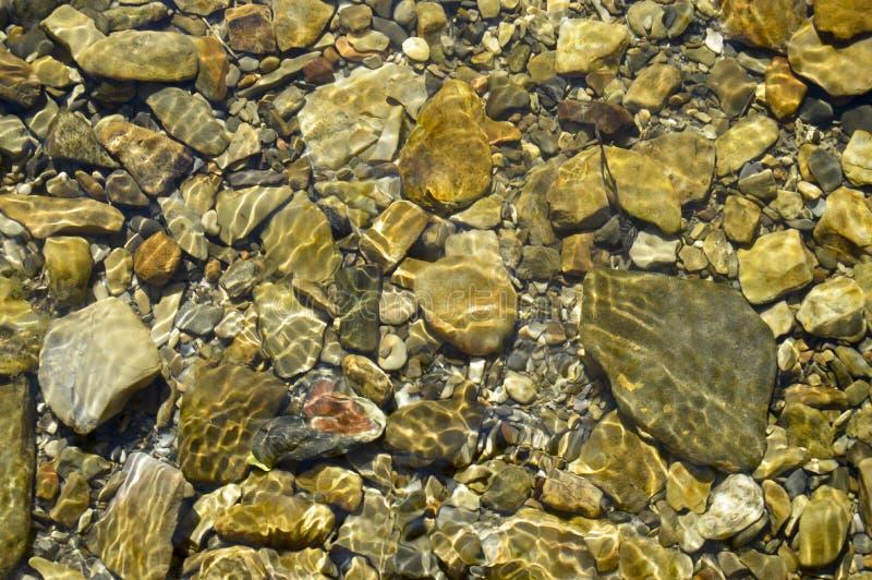 De stenen op de rivierbodem Variant2 stock foto