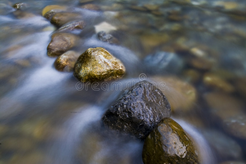 De stenen in stromen royalty-vrije stock afbeeldingen