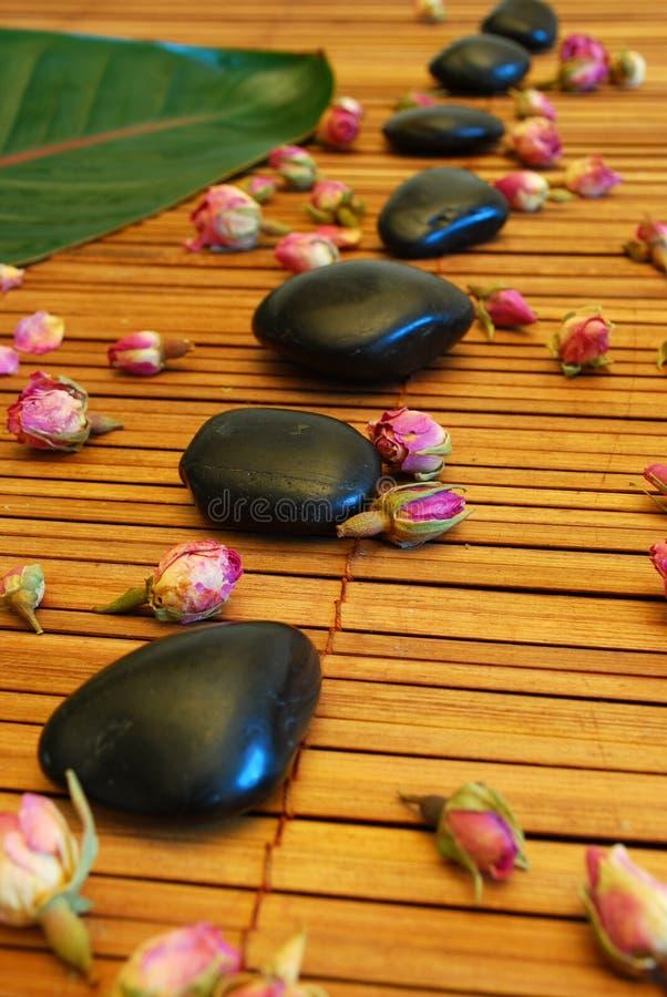 De stenen van de massage royalty-vrije stock afbeeldingen