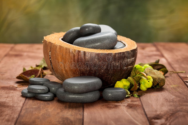 De stenen van de massage stock afbeeldingen