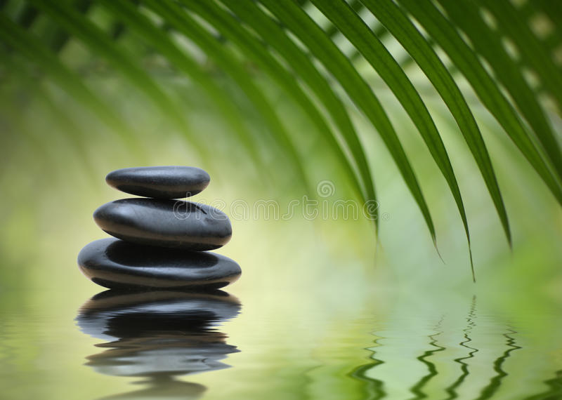 De stenen van de meditatie zen