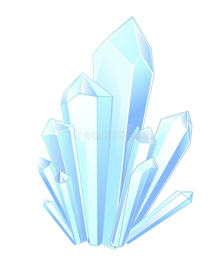 De stenen van het kristal