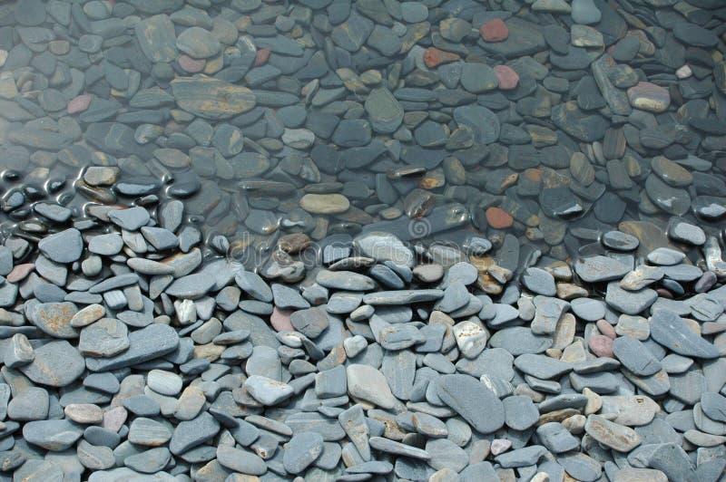 De Stenen van het meer stock foto's