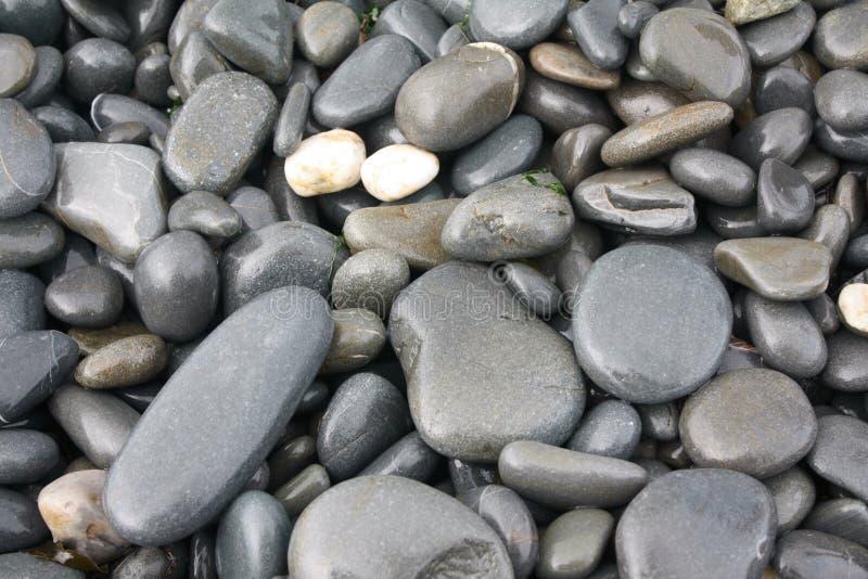 De Stenen van het strand stock fotografie