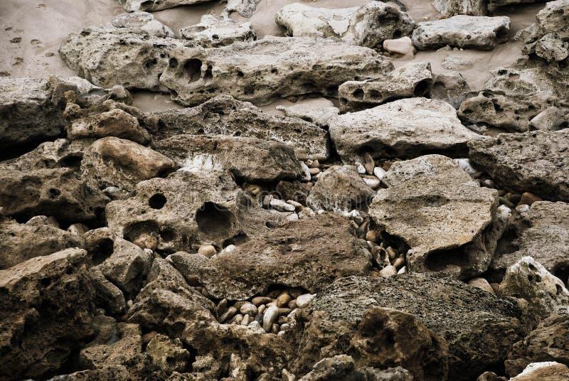 De stenen van het strand stock foto