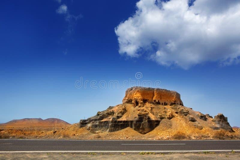 De stenen vulkanische Lanzarote van Guatizateguis royalty-vrije stock fotografie