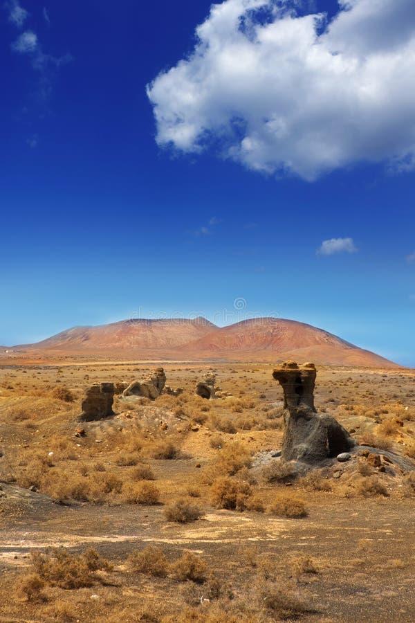 De stenen vulkanische Lanzarote van Guatizateguis stock fotografie