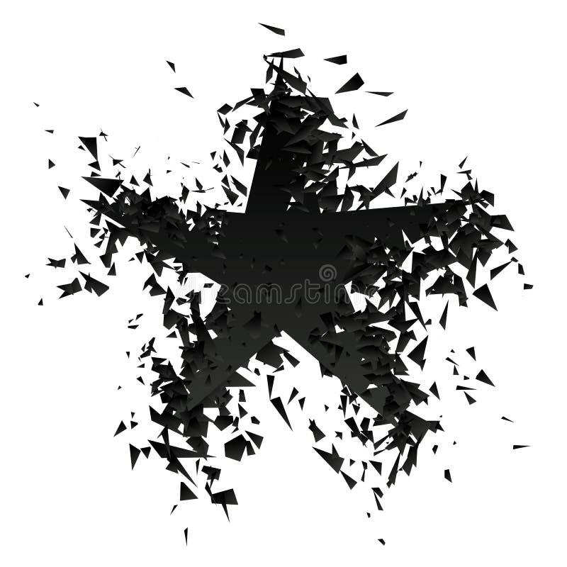 De ster barstte Vectorillustratie vector illustratie