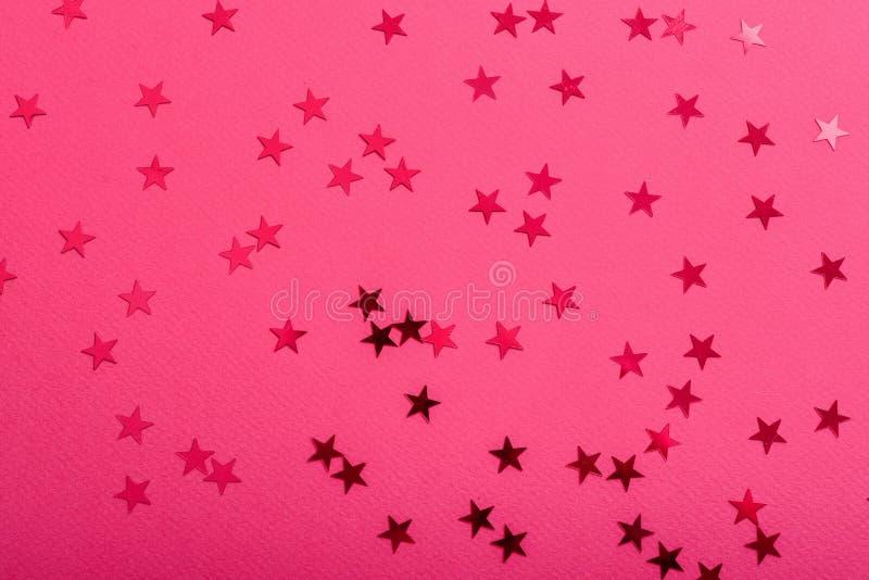 De ster bestrooit op roze royalty-vrije stock foto