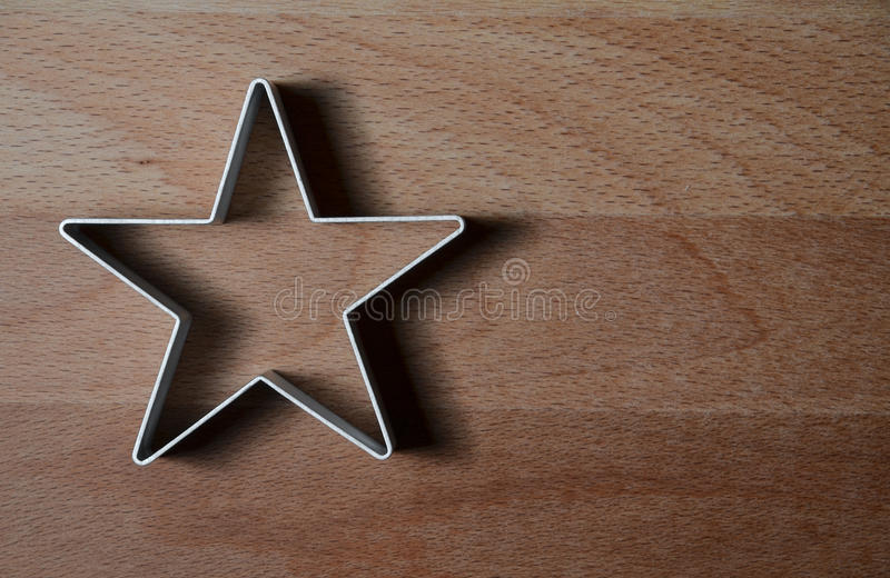 De ster gevormde vorm van de voedselring stock fotografie