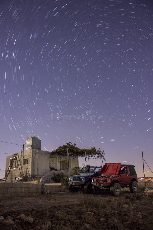 De ster sleept cabineboerderij stock foto