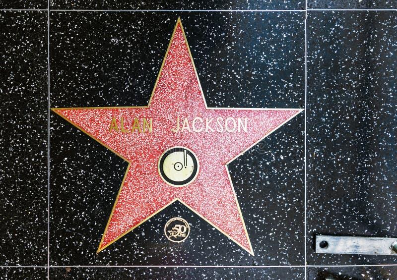 De ster van Alan Jackson op Hollywood-Gang van Bekendheid royalty-vrije stock foto's