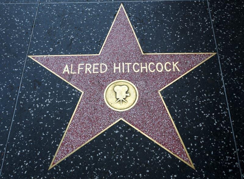 De Ster van Alfred Hitchcock ` s, Hollywood-Gang van Bekendheid - 11 Augustus, 2017 - Hollywood-Boulevard, Los Angeles, Californi stock foto's
