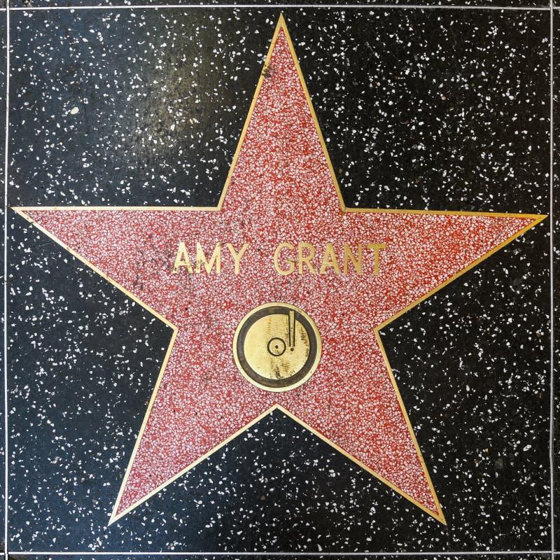 De ster van Amy Grant op Hollywood-Gang van Bekendheid stock foto's