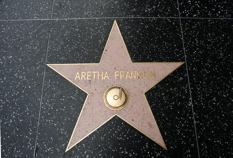 De ster van Aretha Franklin stock foto