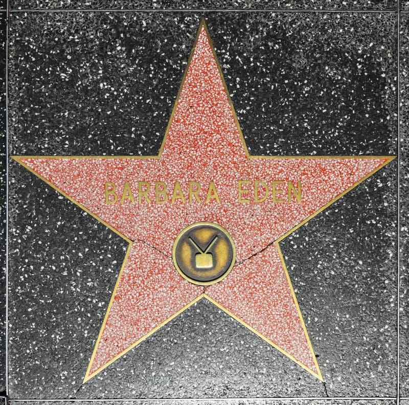 De Ster van Barbara Eden op de Hollywood-Gang van Bekendheid in Los Angeles stock afbeelding