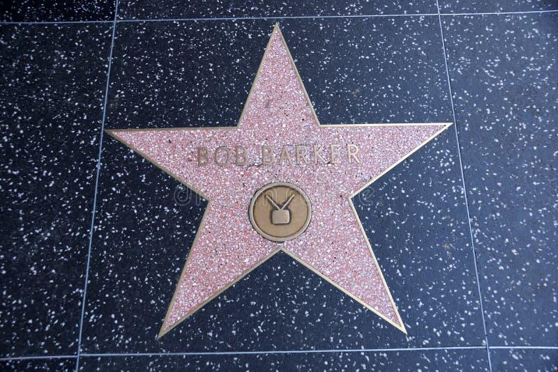 De ster van Bob Barker op Hollywood-Gang van Bekendheid royalty-vrije stock afbeelding