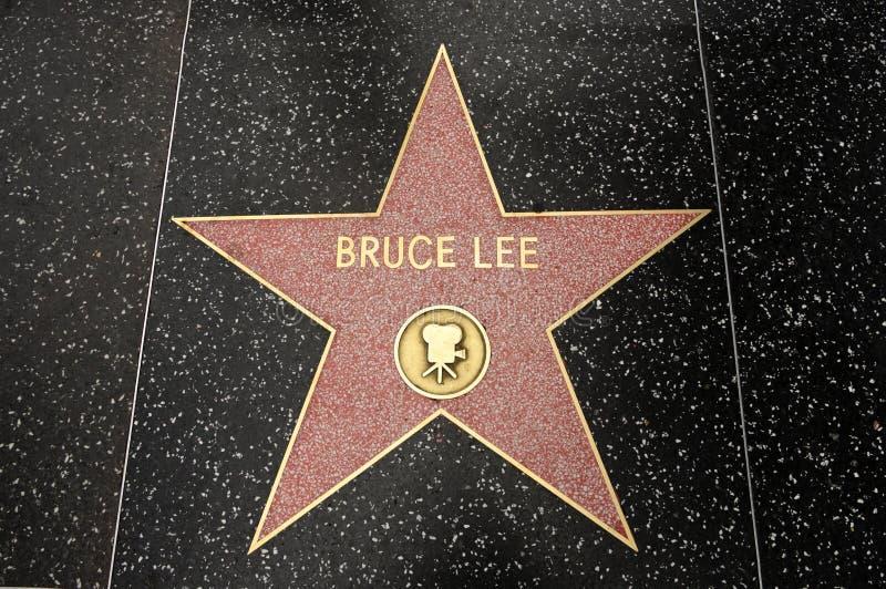 De ster van Bruce Lee royalty-vrije stock afbeelding