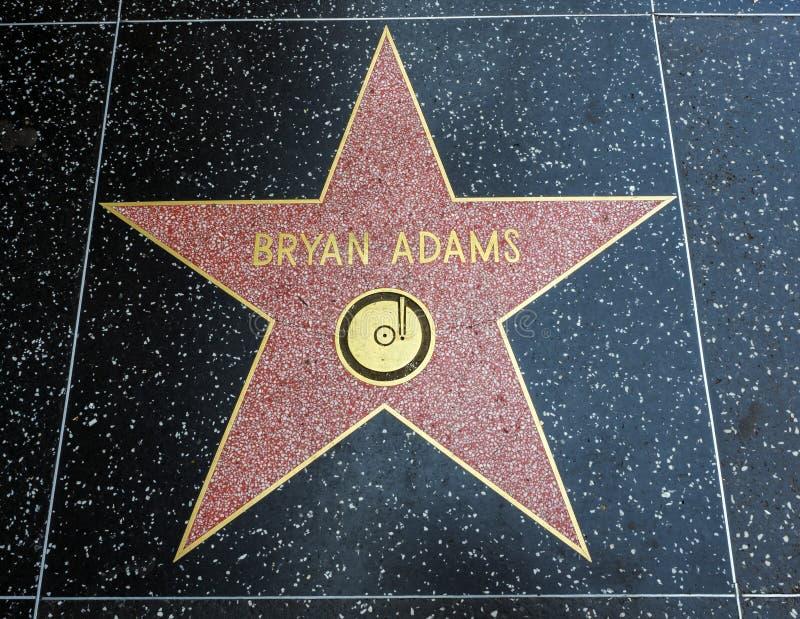 De Ster van Bryan Adams ` s, Hollywood-Gang van Bekendheid - 11 Augustus, 2017 - Hollywood-Boulevard, Los Angeles, Californië, CA stock foto's