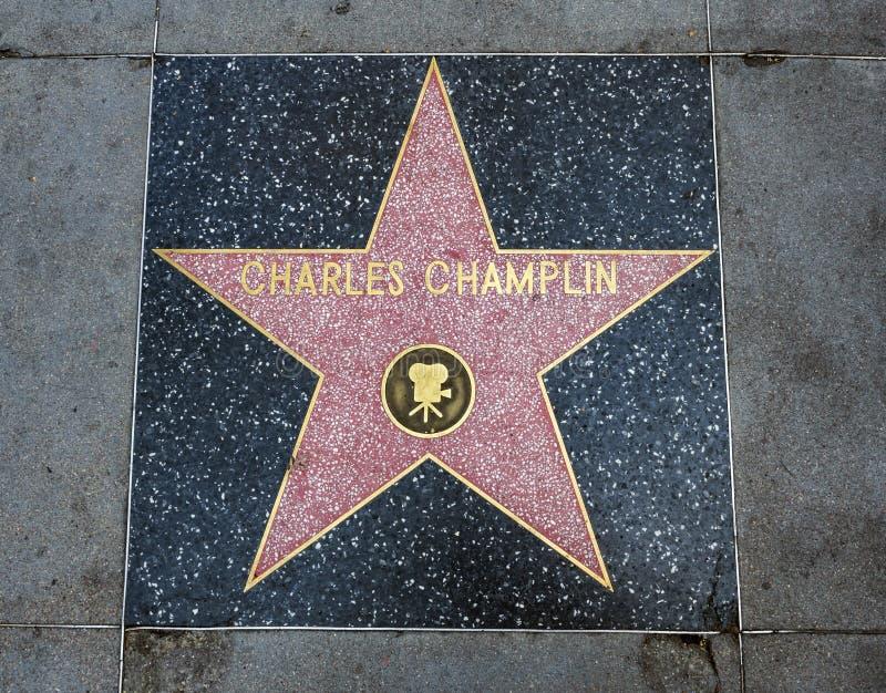 De Ster van Charles Champlin ` s, Hollywood-Gang van Bekendheid - 11 Augustus, 2017 - Hollywood-Boulevard, Los Angeles, Californi royalty-vrije stock afbeeldingen