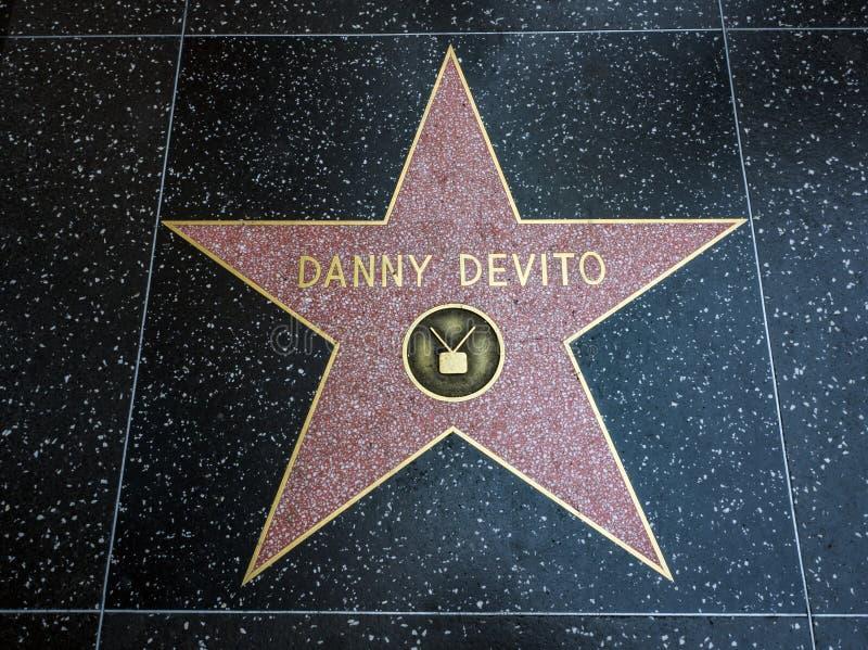 De Ster van Danny Devito ` s, Hollywood-Gang van Bekendheid - 11 Augustus, 2017 - Hollywood-Boulevard, Los Angeles, Californië, C stock afbeelding