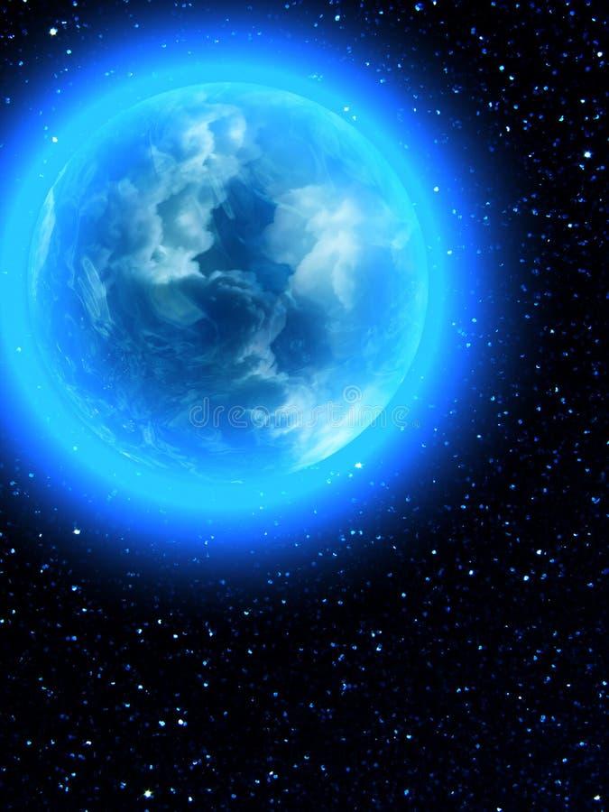 De ster van de Aarde van de hemel stock illustratie