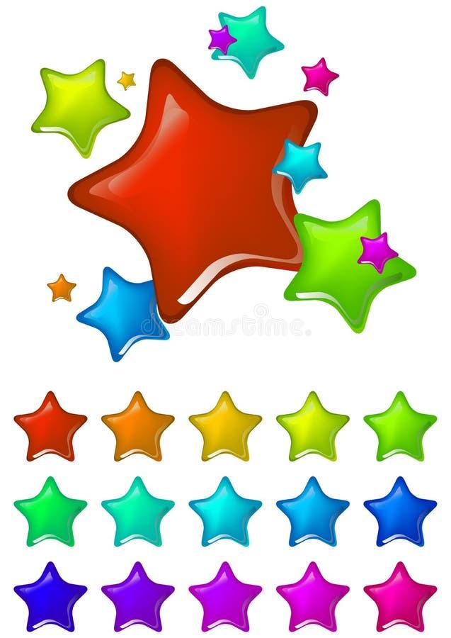 De ster van de kleur royalty-vrije illustratie