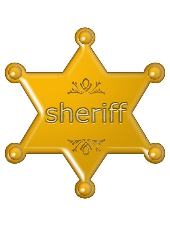 De ster van de sheriff vector illustratie