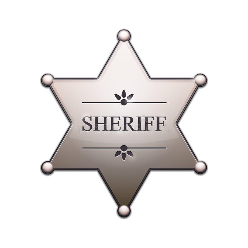 De Ster van de sheriff stock illustratie