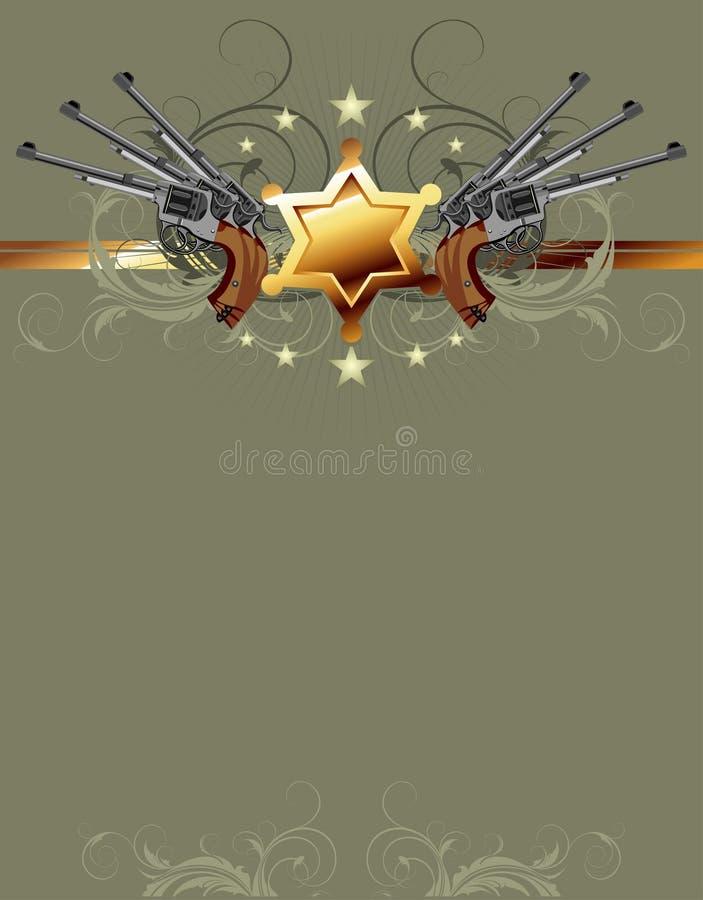 De ster van de sheriff met kanonnen vector illustratie