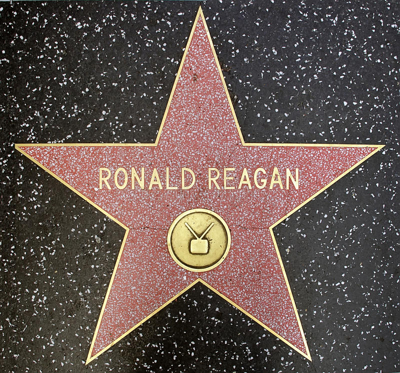 De ster van de V.S. voorzitter Ronald Reagan stock afbeeldingen
