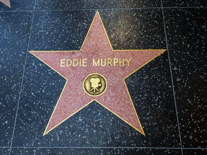 De Ster van Eddie Murphy ` s, Hollywood-Gang van Bekendheid - 11 Augustus, 2017 - Hollywood-Boulevard, Los Angeles, Californië, C royalty-vrije stock foto