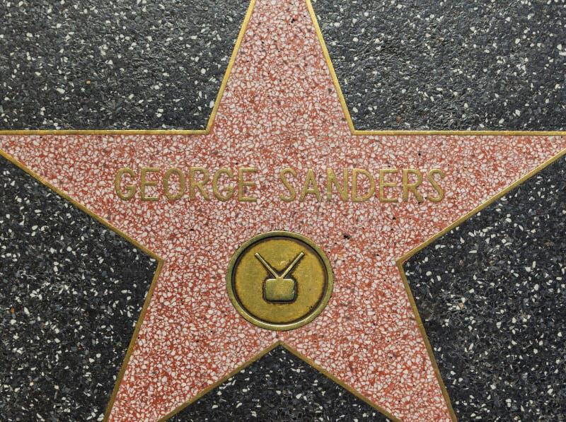 De Ster van George Sanders ' op de Hollywood-Gang van Bekendheid in Los Angeles stock afbeeldingen