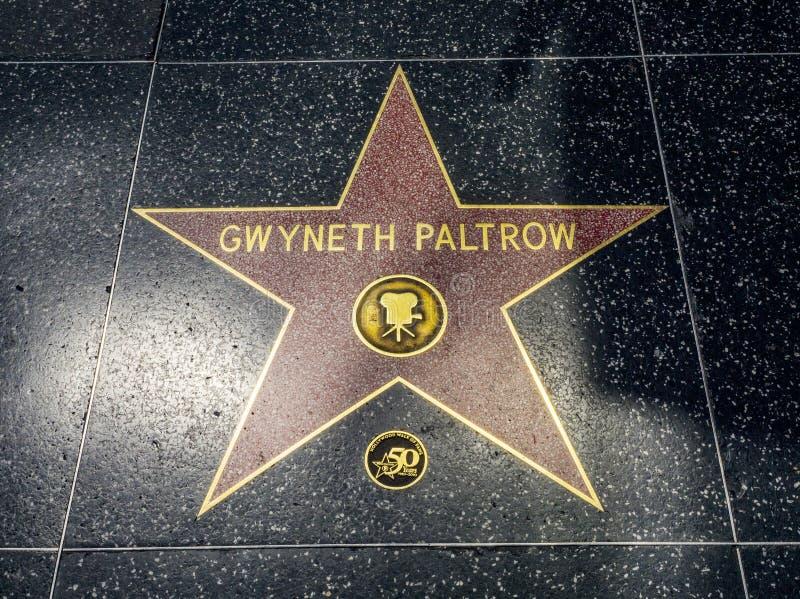 De Ster van Gwyneth Paltrow ` s, Hollywood-Gang van Bekendheid - 11 Augustus, 2017 - Hollywood-Boulevard, Los Angeles, Californië stock foto