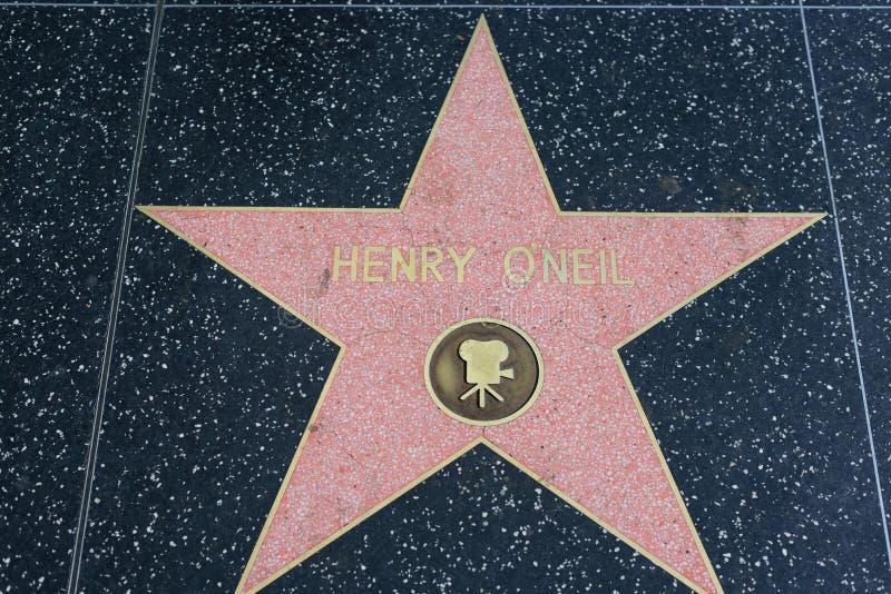De ster van Henry O ` Neil op de Hollywood-Gang van Bekendheid stock foto