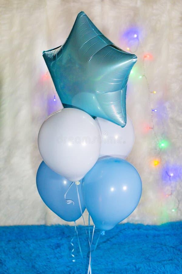 De ster van het ballonshelium stock foto