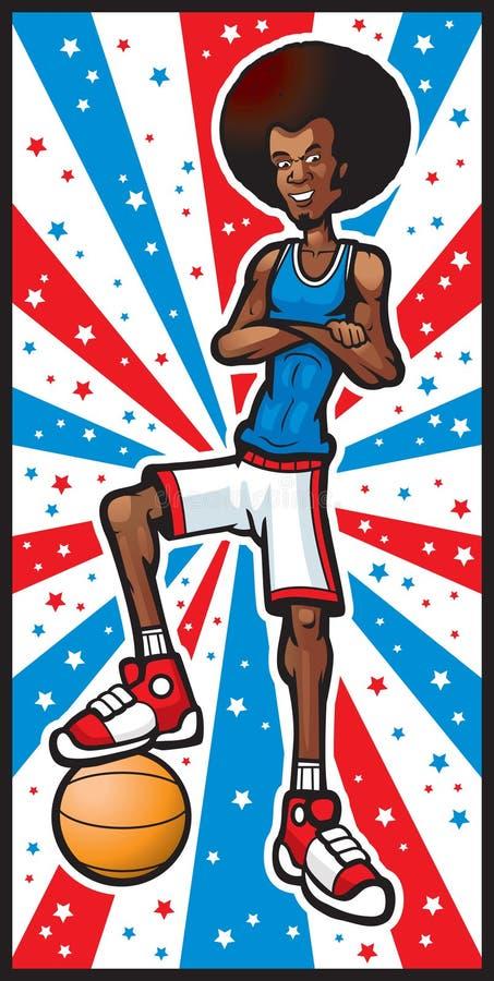 De Ster van het basketbal royalty-vrije illustratie