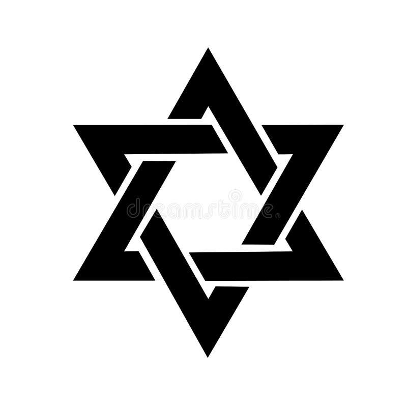 De ster van het embleem van David in royalty-vrije illustratie