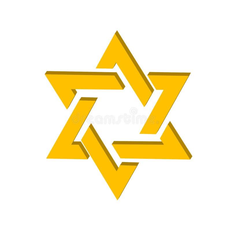 De ster van het embleem van David in stock illustratie