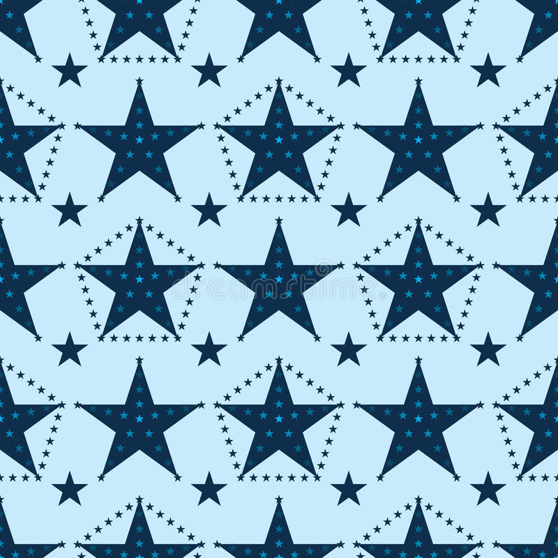De ster van het sterpunt rond naadloos patroon vector illustratie