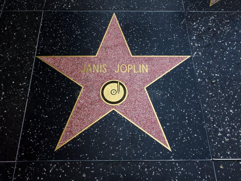 De Ster van Janis Joplin ` s, Hollywood-Gang van Bekendheid - 11 Augustus, 2017 - Hollywood-Boulevard, Los Angeles, Californië, C stock afbeeldingen