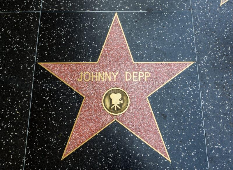 De Ster van Johnny Deep ` s, Hollywood-Gang van Bekendheid - 11 Augustus, 2017 - Hollywood-Boulevard, Los Angeles, Californië, CA royalty-vrije stock foto's
