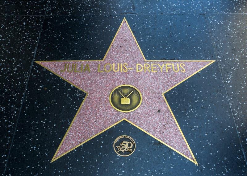 De Ster van Julia Louis-Dreyfus ` s, Hollywood-Gang van Bekendheid - 11 Augustus, 2017 - Hollywood-Boulevard, Los Angeles, Califo royalty-vrije stock afbeelding