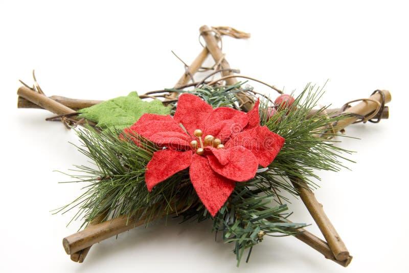 De ster van Kerstmis van hout stock afbeeldingen