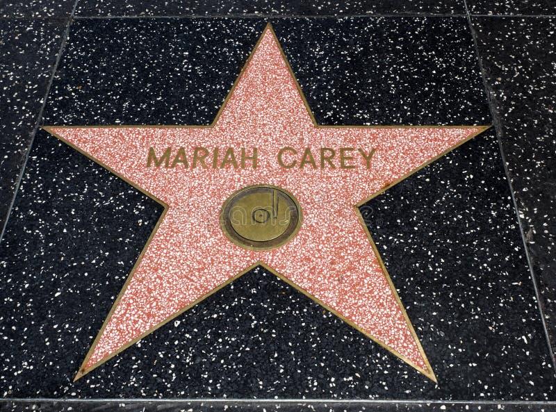 De Ster van Mariah Carey ` s, Hollywood-Gang van Bekendheid - 11 Augustus, 2017 - Hollywood-Boulevard, Los Angeles, Californië, C stock foto