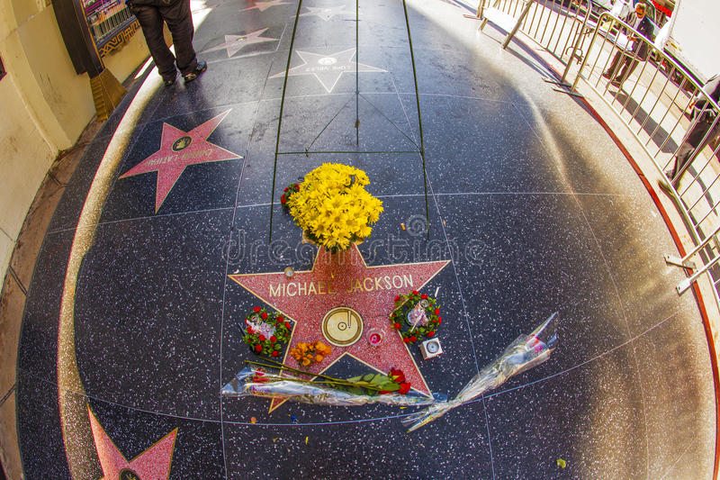 De Ster van Michael Jackson op de Hollywood-Gang van Bekendheid stock fotografie