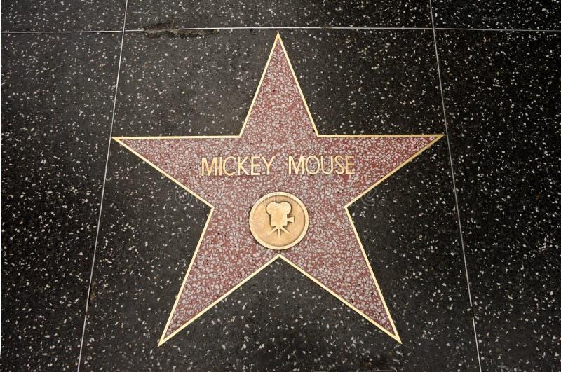 De ster van Mickey Mouse stock afbeelding