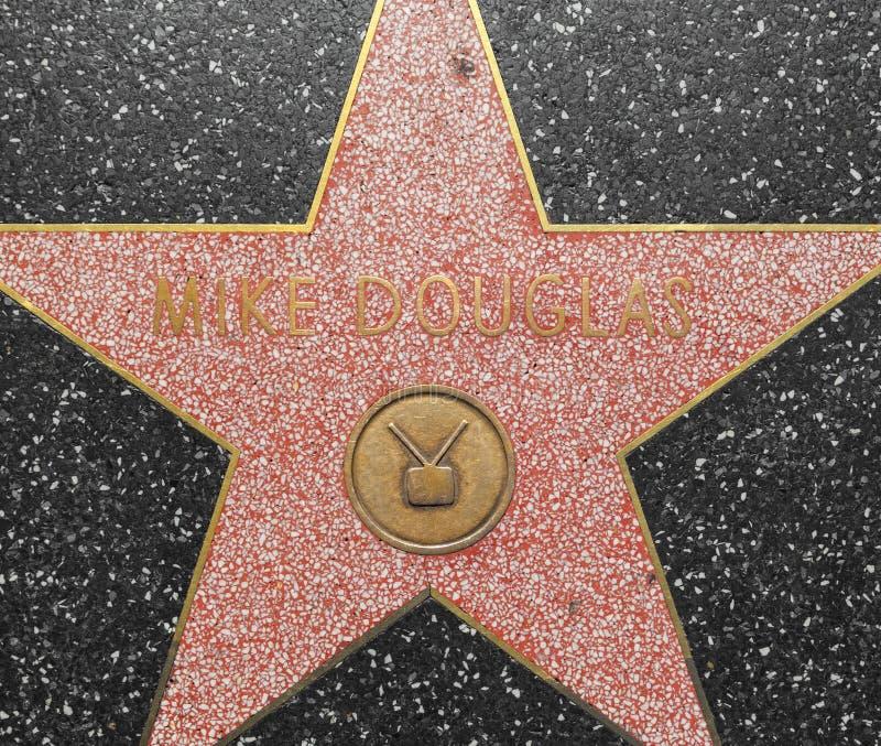 De Ster van Mike Douglas ' op de Hollywood-Gang van Bekendheid in Los Angeles stock fotografie