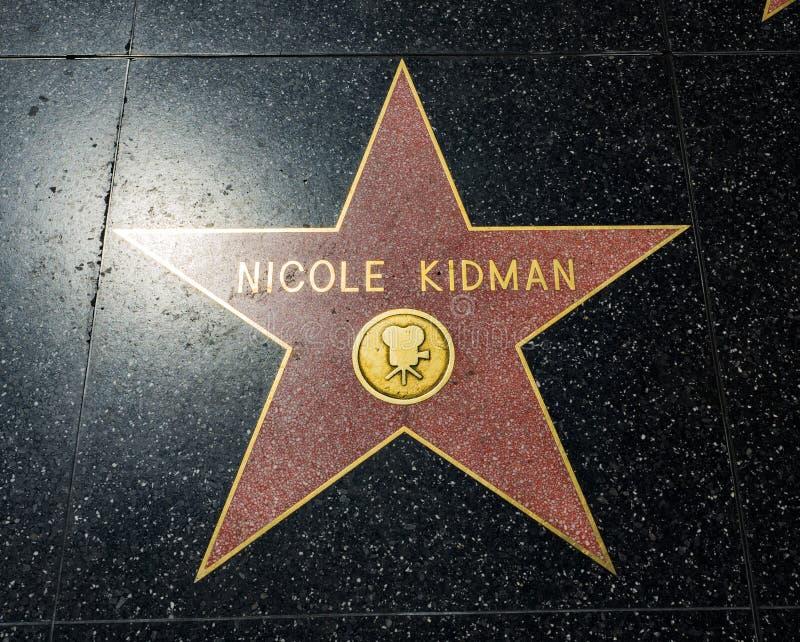 De Ster van Nicole Kidman ` s, Hollywood-Gang van Bekendheid - 11 Augustus, 2017 - Hollywood-Boulevard, Los Angeles, Californië,  royalty-vrije stock foto's